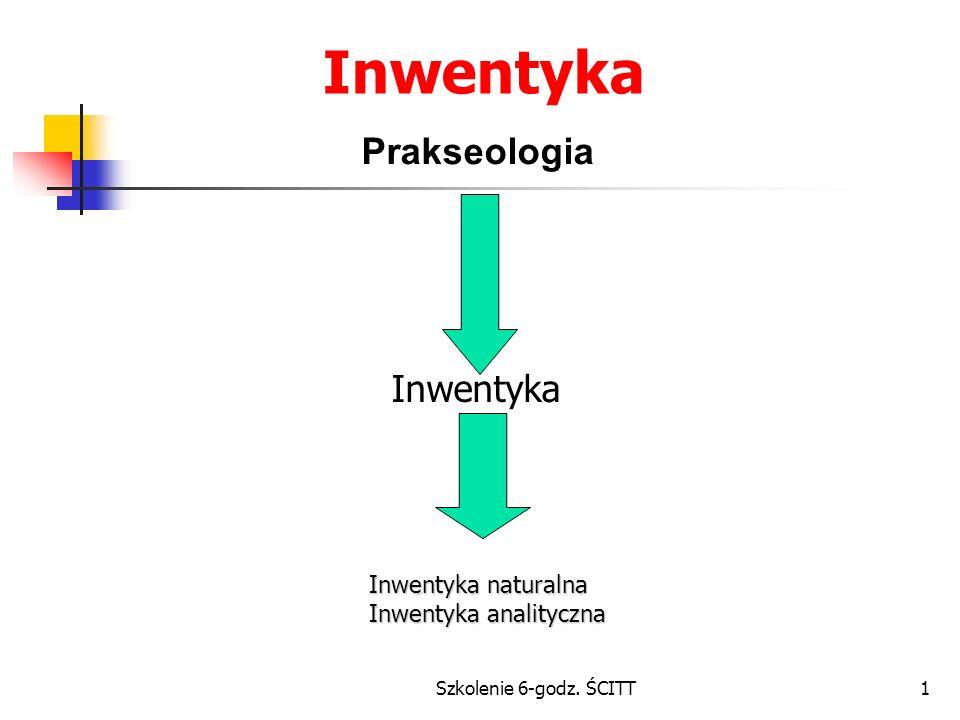 Szkolenie 6-godz. ŚCITT1 Inwentyka Prakseologia Inwentyka Inwentyka naturalna Inwentyka analityczna