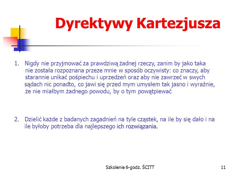 Szkolenie 6-godz.ŚCITT11 Dyrektywy Kartezjusza 1.