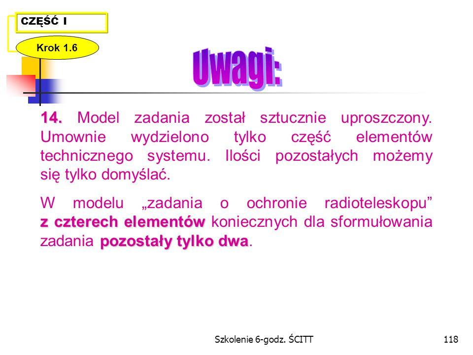 Szkolenie 6-godz.ŚCITT118 CZĘŚĆ I Krok 1.6 14. 14.