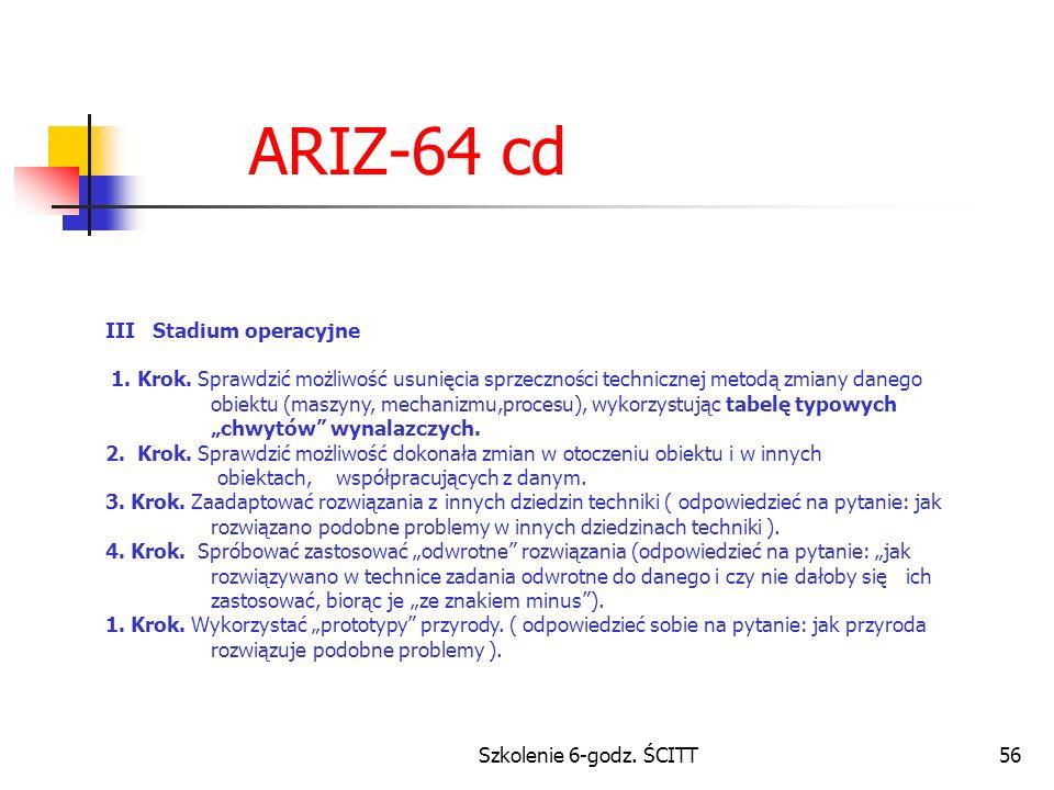 Szkolenie 6-godz.ŚCITT56 ARIZ-64 cd III Stadium operacyjne 1.