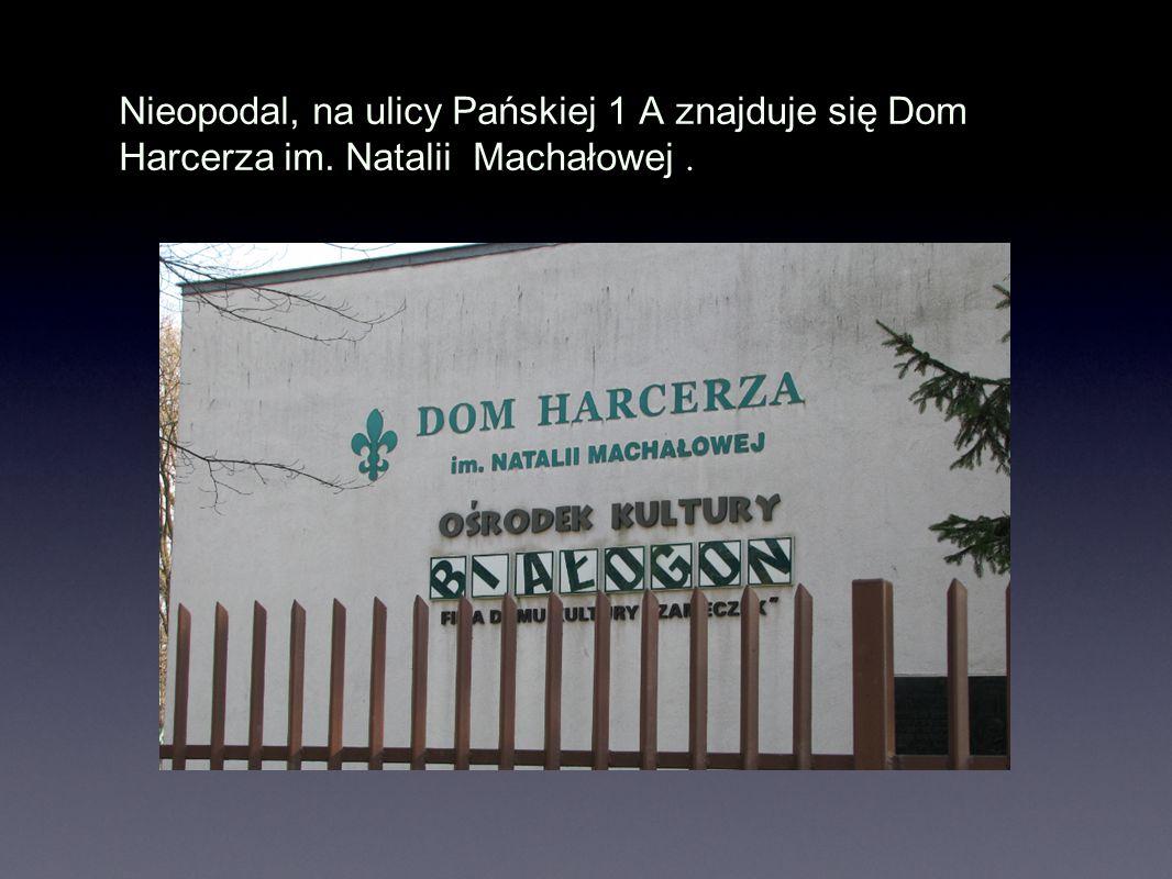 Nieopodal, na ulicy Pańskiej 1 A znajduje się Dom Harcerza im. Natalii Machałowej.