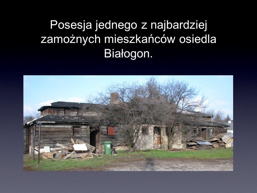Posesja jednego z najbardziej zamożnych mieszkańców osiedla Białogon.