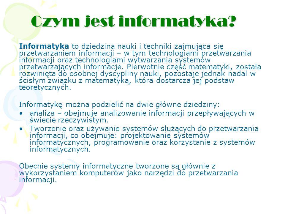 Czym jest informatyka.