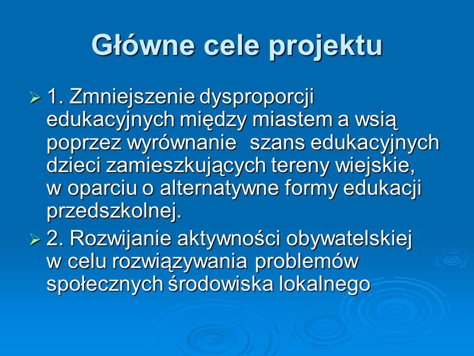Główne cele projektu 1.