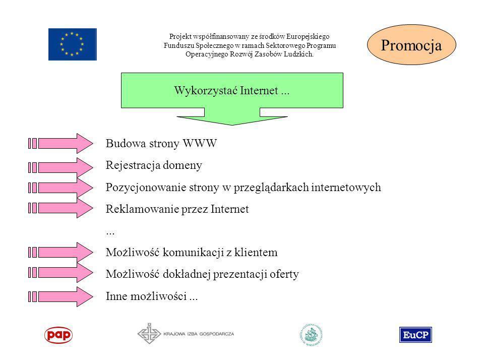 Projekt współfinansowany ze środków Europejskiego Funduszu Społecznego w ramach Sektorowego Programu Operacyjnego Rozwój Zasobów Ludzkich. Wykorzystać