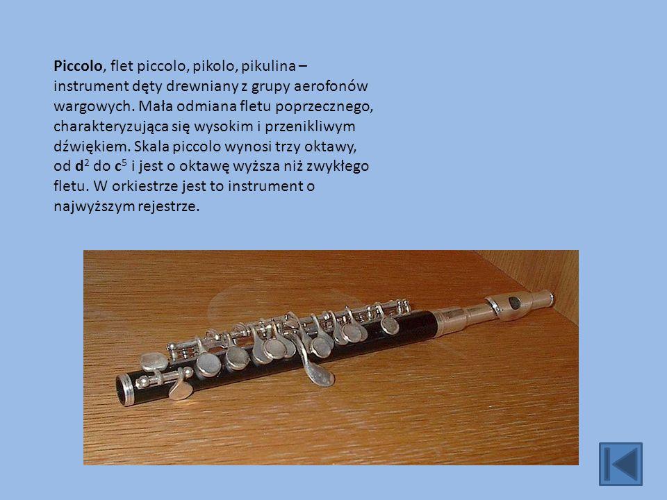 Piccolo, flet piccolo, pikolo, pikulina – instrument dęty drewniany z grupy aerofonów wargowych.