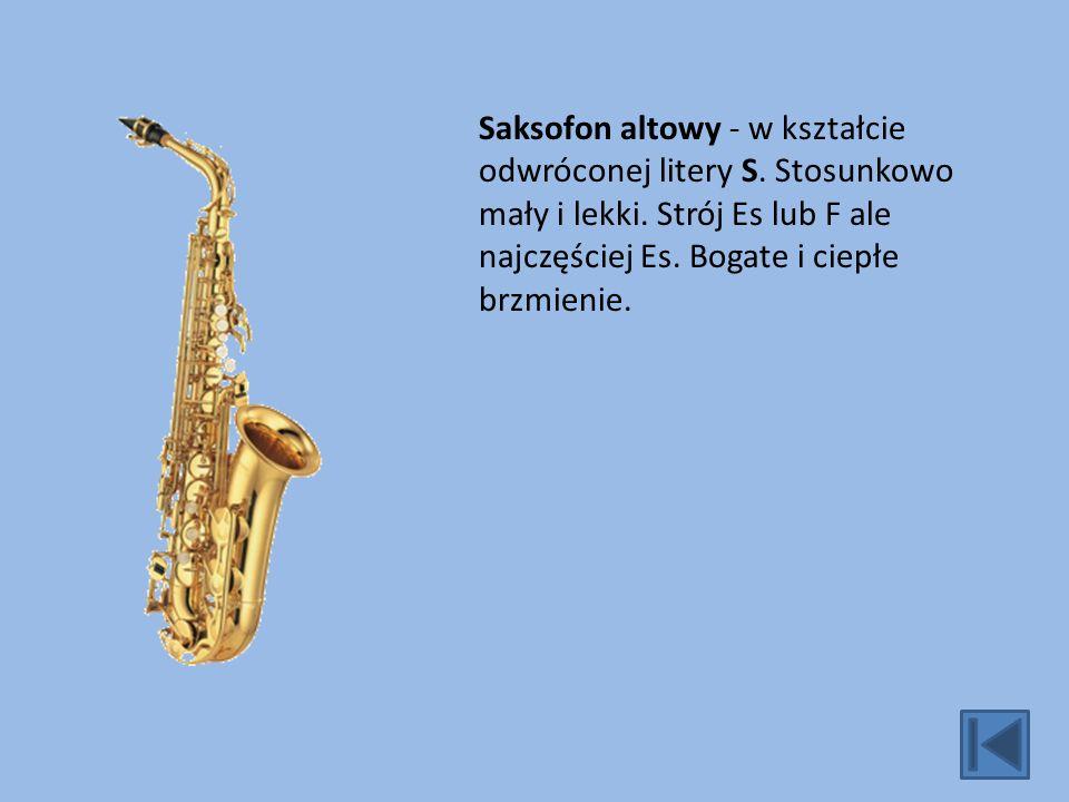 Saksofon altowy - w kształcie odwróconej litery S.