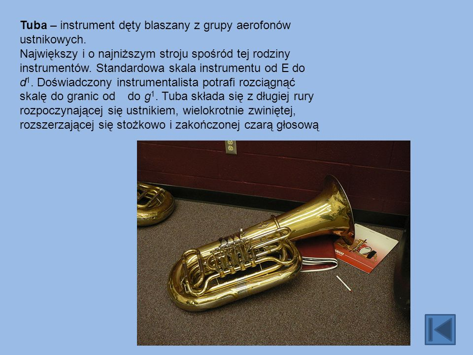Saksofon tenorowy - w kształcie odwróconej litery S.