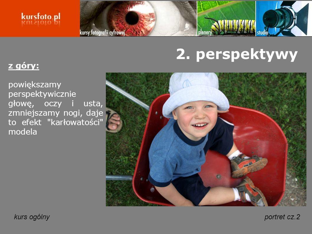 kurs ogólnyportret cz.2 2. perspektywy z góry: powiększamy perspektywicznie głowę, oczy i usta, zmniejszamy nogi, daje to efekt