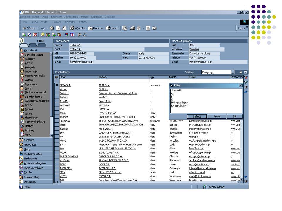 mySAP 2005 mySAP Busines Suite mySAP Customer Relations Management mySAP CRM dostarcza unikalny zestaw aplikacji, które wspierają firmę w efektywnych