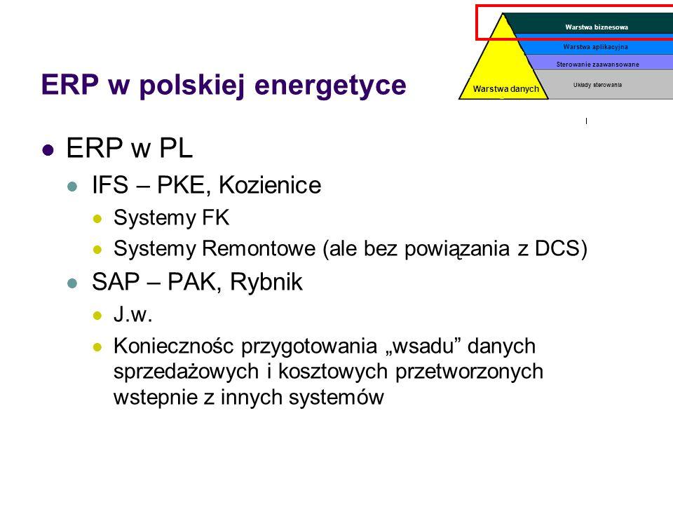 ERP w energetyce Poza bazowymi modułami (Rachunkowość, HR) duża specyfika działania Specyficzna sprzedaż (rozliczenia specjalizowane z koniecznością t