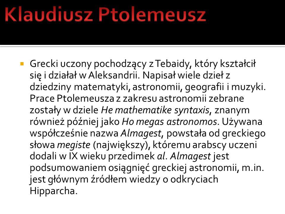 Grecki uczony pochodzący z Tebaidy, który kształcił się i działał w Aleksandrii. Napisał wiele dzieł z dziedziny matematyki, astronomii, geografii i m