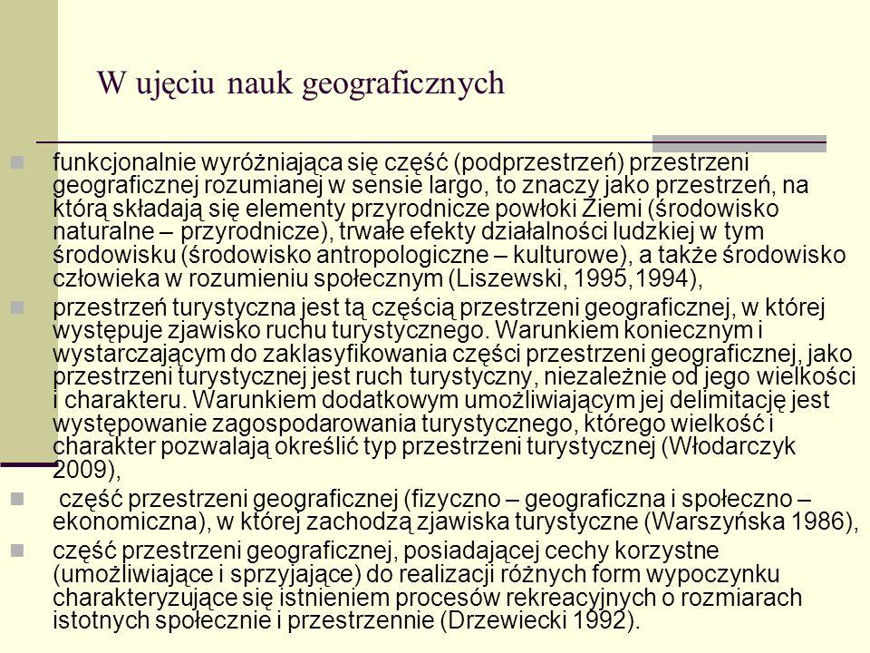 W ujęciu nauk geograficznych funkcjonalnie wyróżniająca się część (podprzestrzeń) przestrzeni geograficznej rozumianej w sensie largo, to znaczy jako