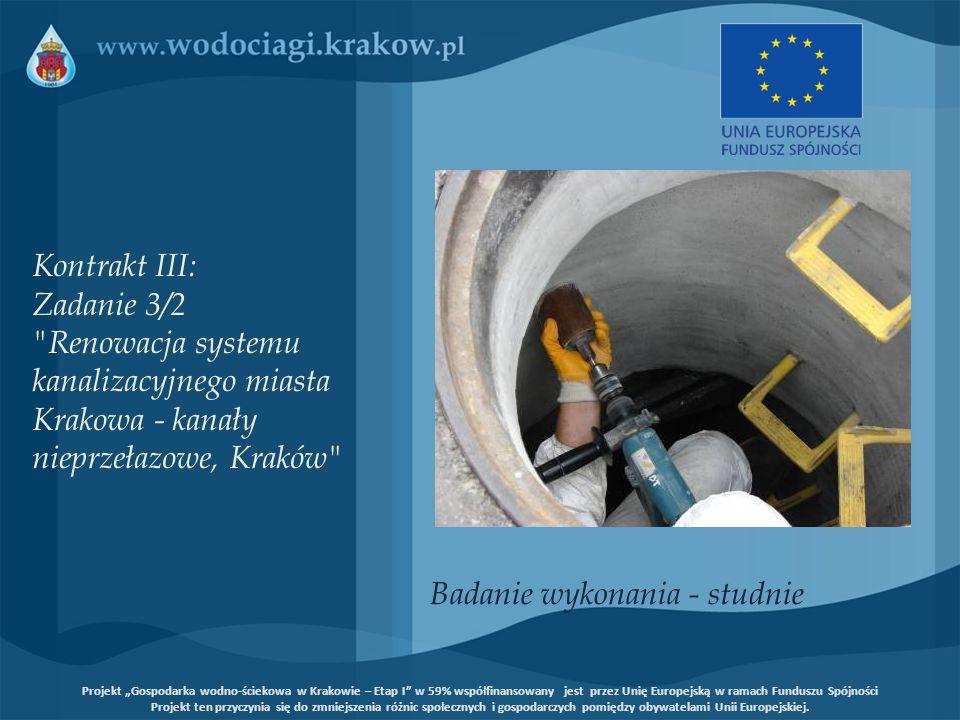Badanie wykonania - studnie Kontrakt III: Zadanie 3/2