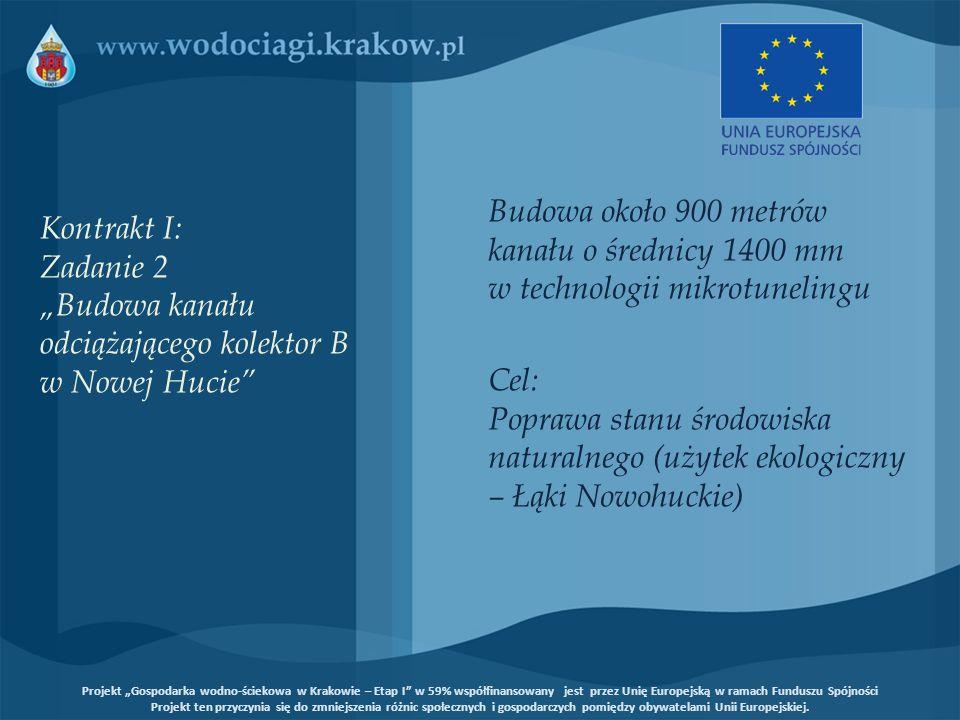 Badanie wykonania - studnie Kontrakt III: Zadanie 3/2 Renowacja systemu kanalizacyjnego miasta Krakowa - kanały nieprzełazowe, Kraków Projekt Gospodarka wodno-ściekowa w Krakowie – Etap I w 59% współfinansowany jest przez Unię Europejską w ramach Funduszu Spójności Projekt ten przyczynia się do zmniejszenia różnic społecznych i gospodarczych pomiędzy obywatelami Unii Europejskiej.