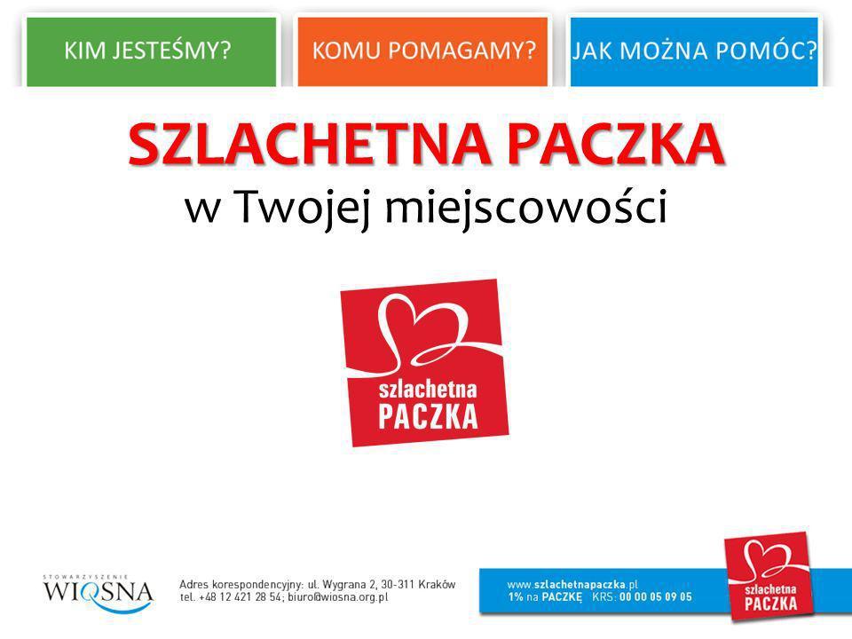 SZLACHETNA PACZKA SZLACHETNA PACZKA to ogólnopolski projekt pomocy rodzinom żyjącym w niezawinionej biedzie.