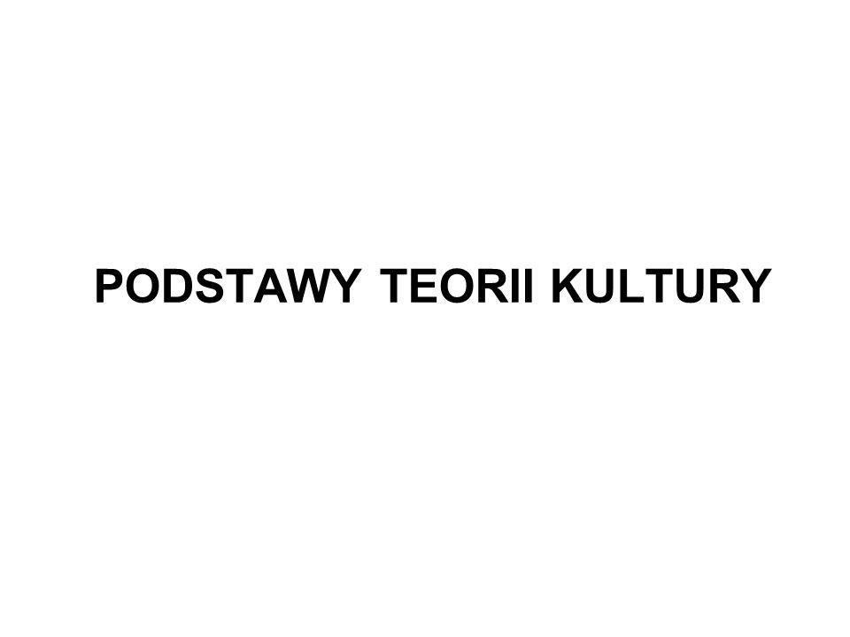 PODSTAWY TEORII KULTURY