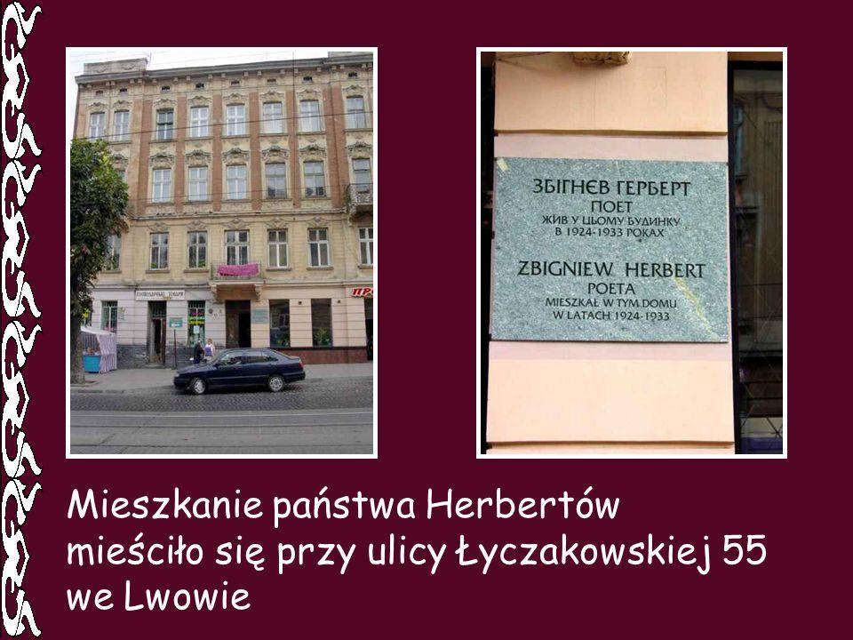 Mieszkanie państwa Herbertów mieściło się przy ulicy Łyczakowskiej 55 we Lwowie