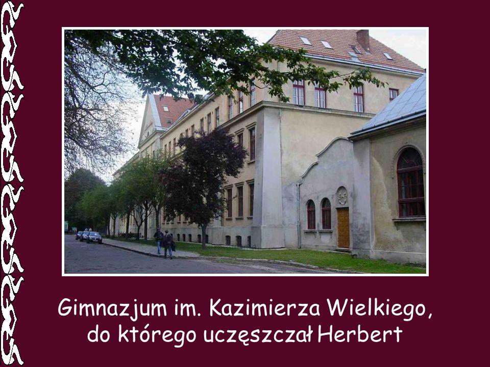 Gimnazjum im. Kazimierza Wielkiego, do którego uczęszczał Herbert