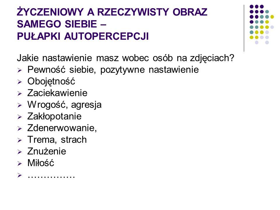 PUŁAPKI PERCEPCJI… Dobór zdięć: Zuzanna Wiśniewska