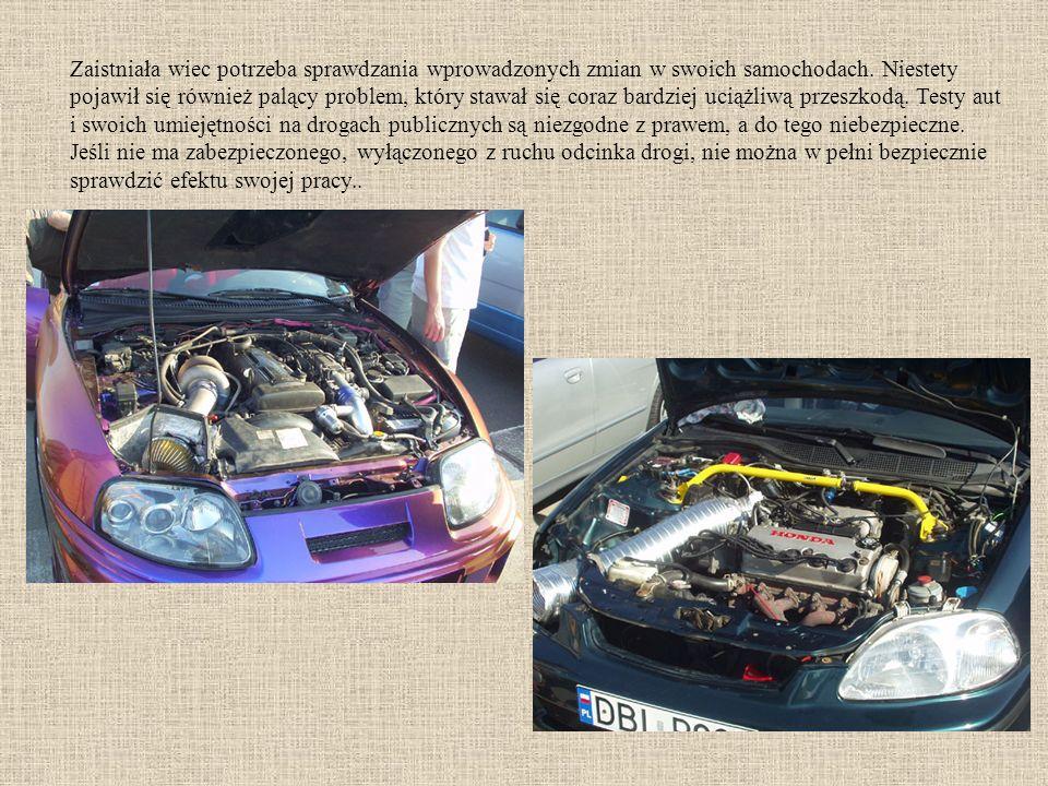 Zaistniała wiec potrzeba sprawdzania wprowadzonych zmian w swoich samochodach.