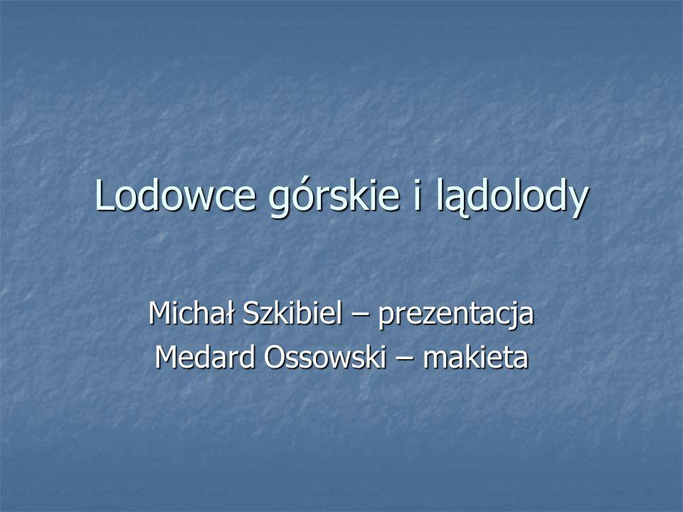 Lodowce górskie i lądolody Michał Szkibiel – prezentacja Medard Ossowski – makieta