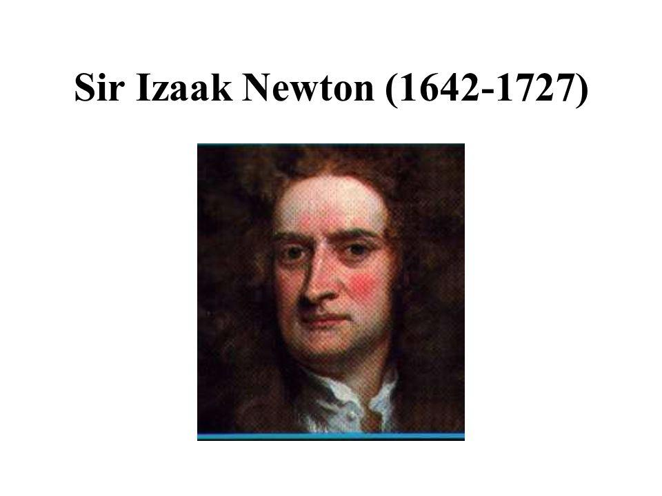 Sir Izaak Newton (1642-1727)