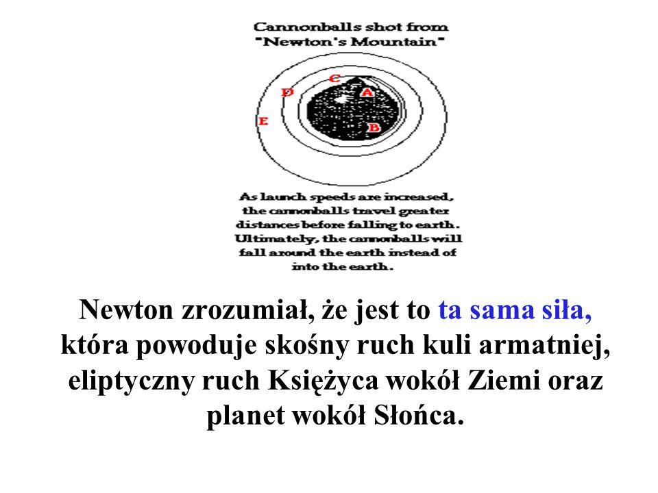 Jabłko Newtona – symbol siły ciążenia, czyli grawitacji.