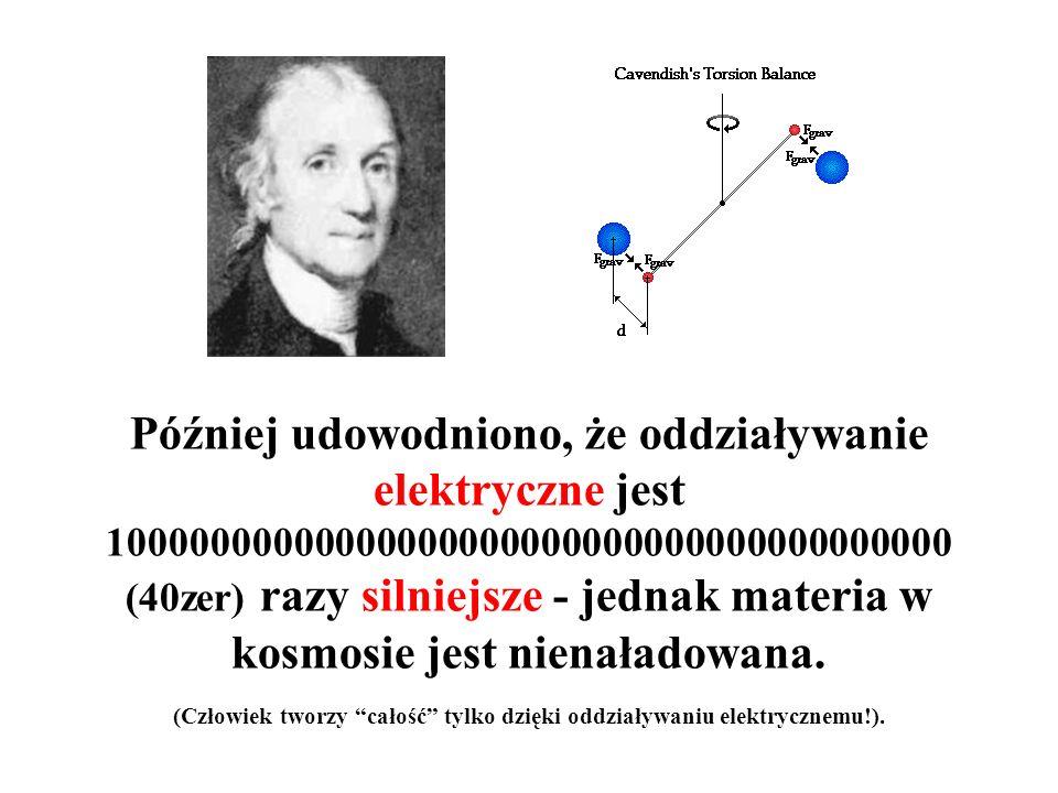 Siła = stała G masa1 masa2/(odległość)^2 Stałą grawitacji G wyznaczył Sir Henry Cavendish (1731-1810) – okazało się, że jest ona mała dla niewielkich