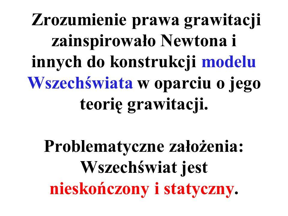 Zrozumienie prawa grawitacji zainspirowało Newtona i innych do konstrukcji modelu Wszechświata w oparciu o jego teorię grawitacji.