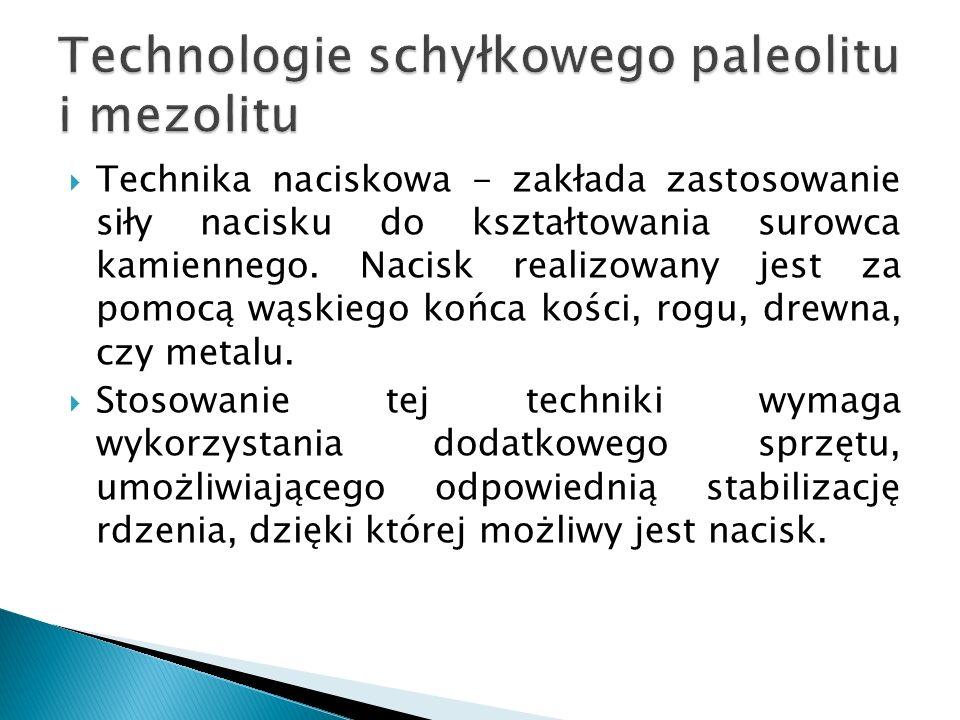Istnieje kategoria dużych narzędzi, które możemy łączyć z mezolitem; narzędzia te wyróżniają się na tle krzemieniarstwa mezolitycznego.