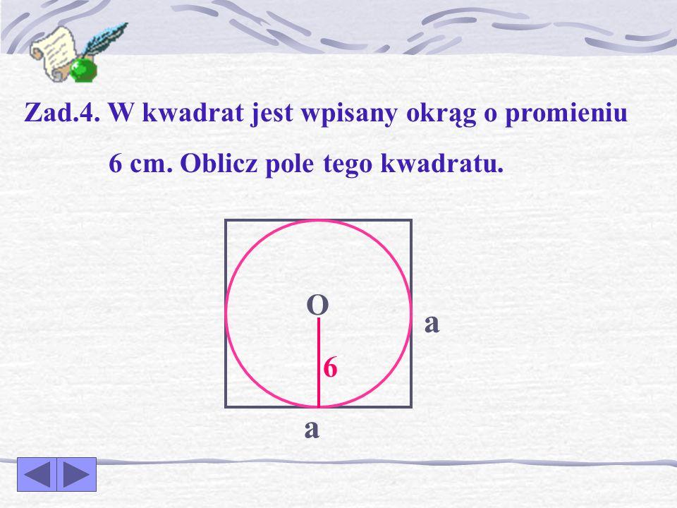 SZEŚCIOKĄT FOREMNY a – długość boku sześciokąta P = 6 a a pole sześciokąta foremnego