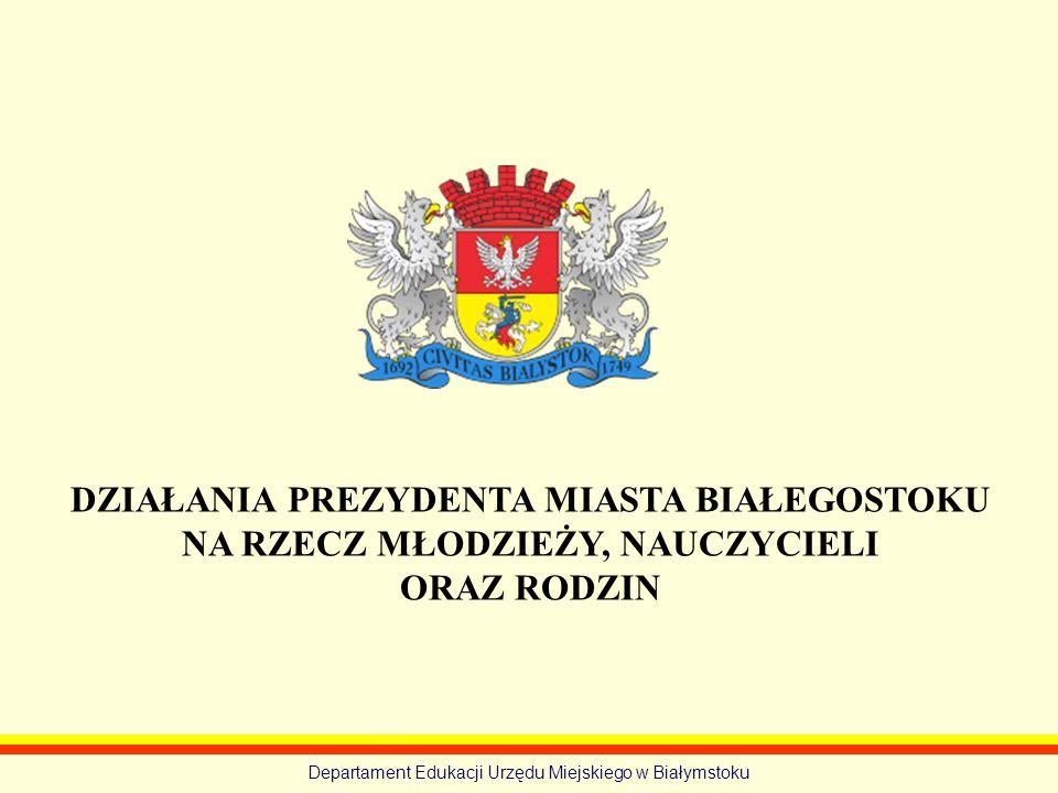 Departament Edukacji Urzędu Miejskiego w Białymstoku DZIAŁANIA NA RZECZ ROZWOJU KSZTAŁCENIA ZAWODOWEGO: www.ksztalceniezawodowe.bialystok.pl Wspólnie do zawodowego sukcesu - 7 listopada 2012r.
