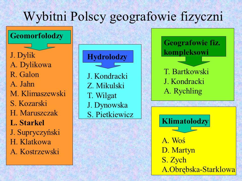 Geomorfolodzy Dylik Jan (1905-1973) od 1967 członek PAN, od 1965 prezes ŁTN, Założyciel UŁ, twórca łódzkiej geografii, uczeń Pawłowskiego geomorfolog glacjalny, założyciel Biuletynu Peryglacjalnego 1956-1972 przew.
