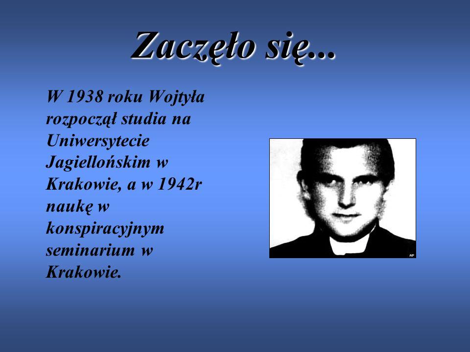 Smutne chwile... Kiedy Wojtyła miał osiem lat, zmarła jego matka. Po czterech latach zmarł jego starszy brat-Edmund, siostra Olga zmarła w dniu narodz