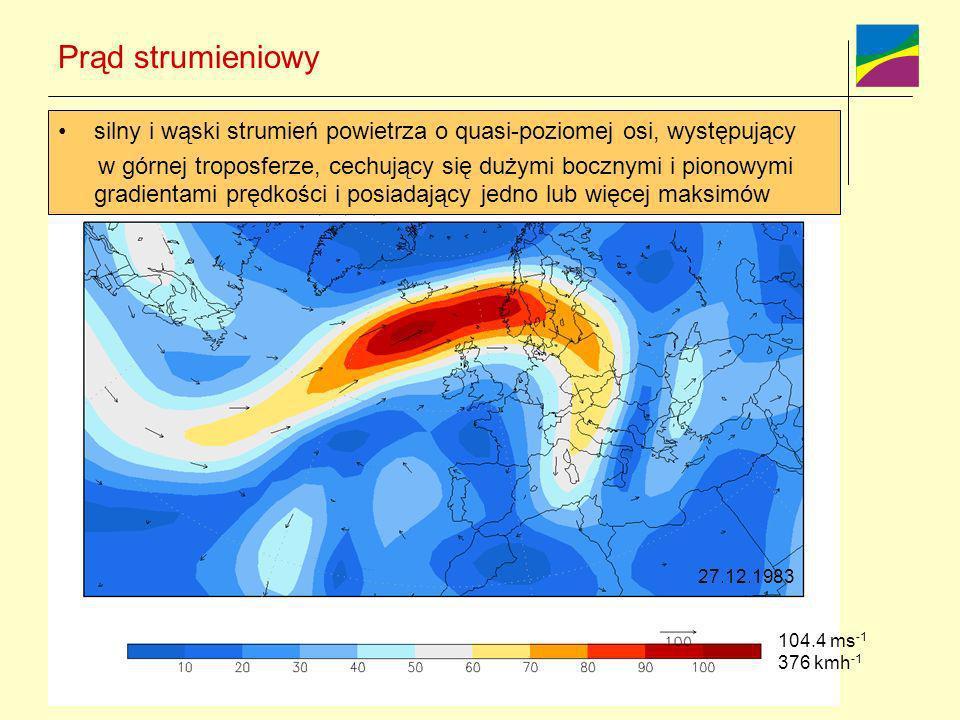Prąd strumieniowy silny i wąski strumień powietrza o quasi-poziomej osi, występujący w górnej troposferze, cechujący się dużymi bocznymi i pionowymi g