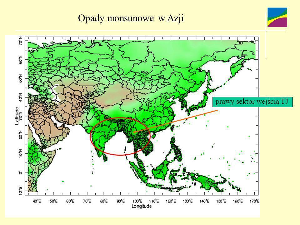 prawy sektor wejścia TJ Opady monsunowe w Azji