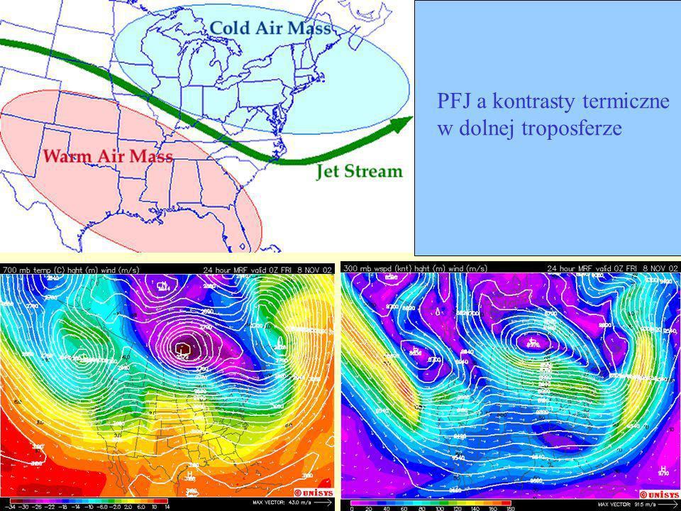 PFJ a kontrasty termiczne w dolnej troposferze