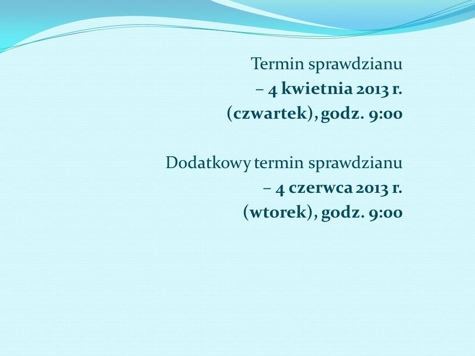 TERMINY EGZAMINU GIMNAZJALNEGO Termin egzaminu gimnazjalnego : a) część humanistyczna – 23 kwietnia 2013 r.
