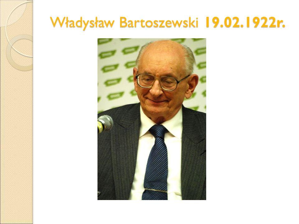 Władysław Bartoszewski 19.02.1922r.