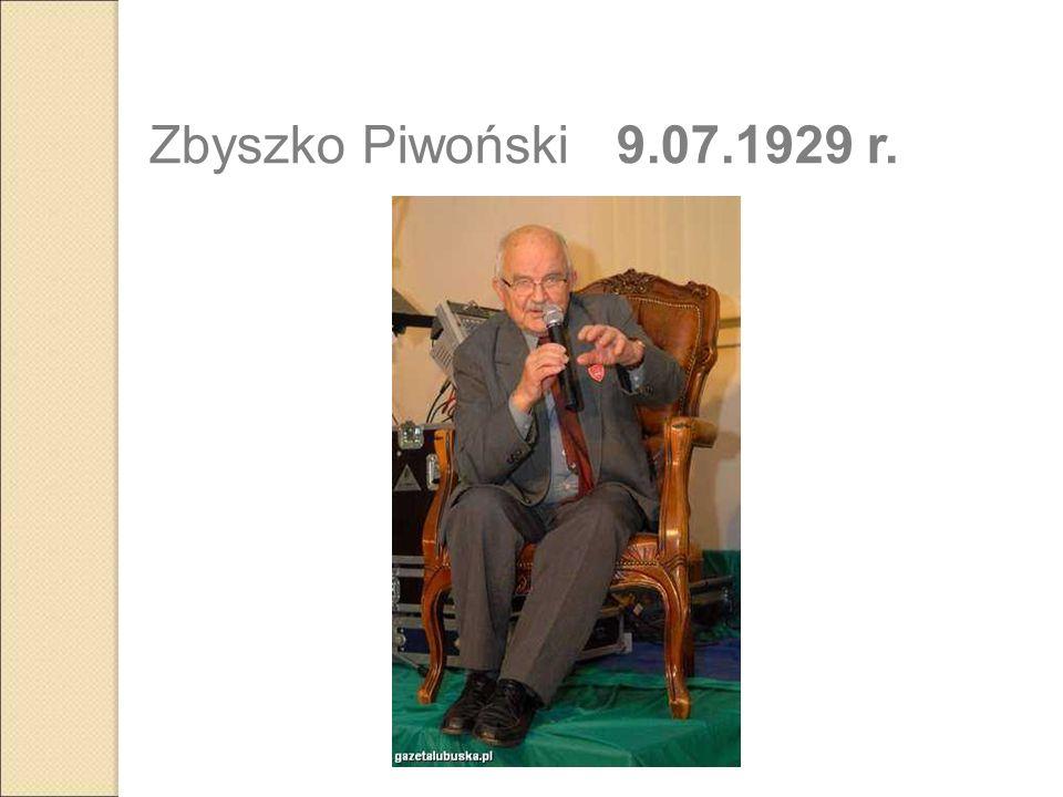 Zbyszko Piwoński 9.07.1929 r.