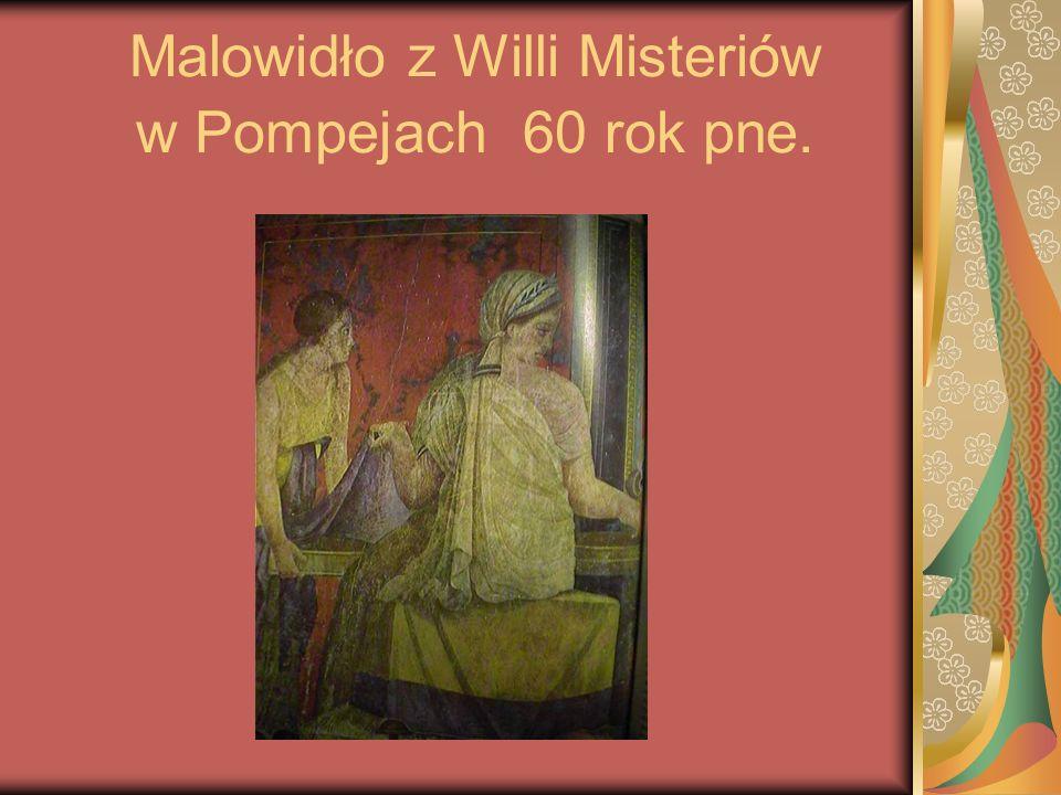 Malowidło z Willi Misteriów w Pompejach 60 rok pne.