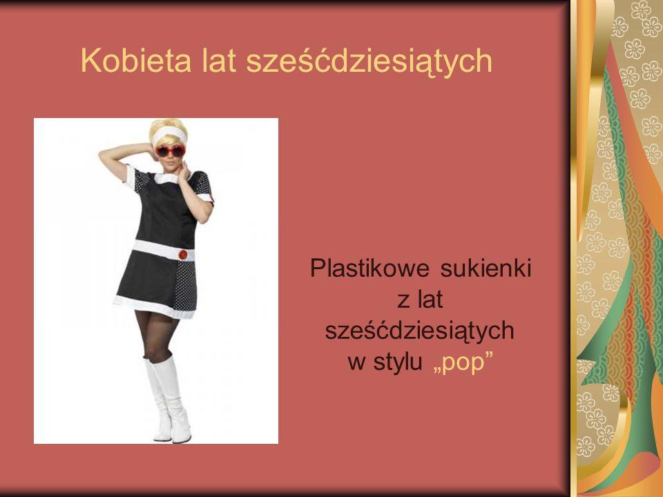 Kobieta lat sześćdziesiątych Plastikowe sukienki z lat sześćdziesiątych w stylu pop
