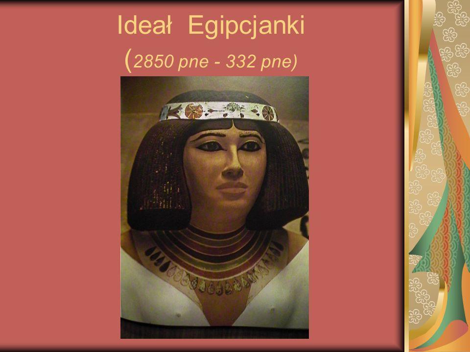 Egipcjanki Miały twarz o prawie pergaminowej skórze.