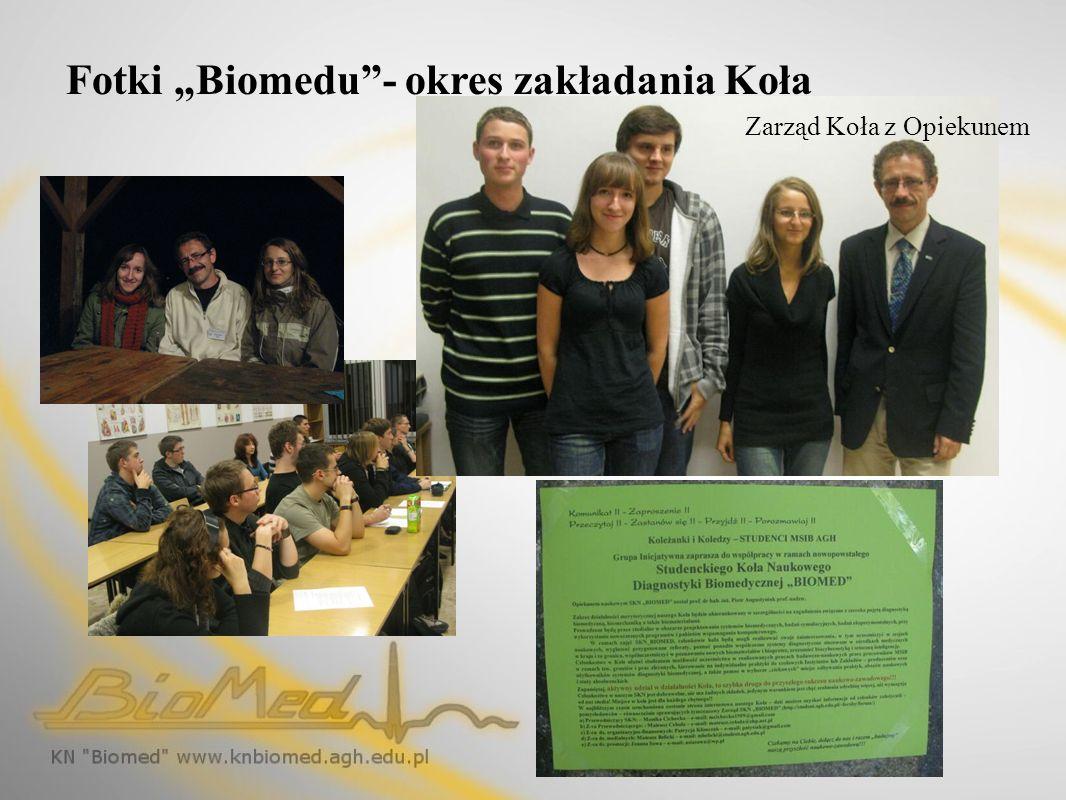 Fotki Biomedu- okres zakładania Koła Zarząd Koła z Opiekunem