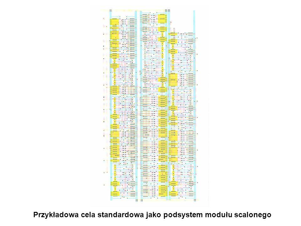 Przykładowa cela standardowa jako podsystem modułu scalonego