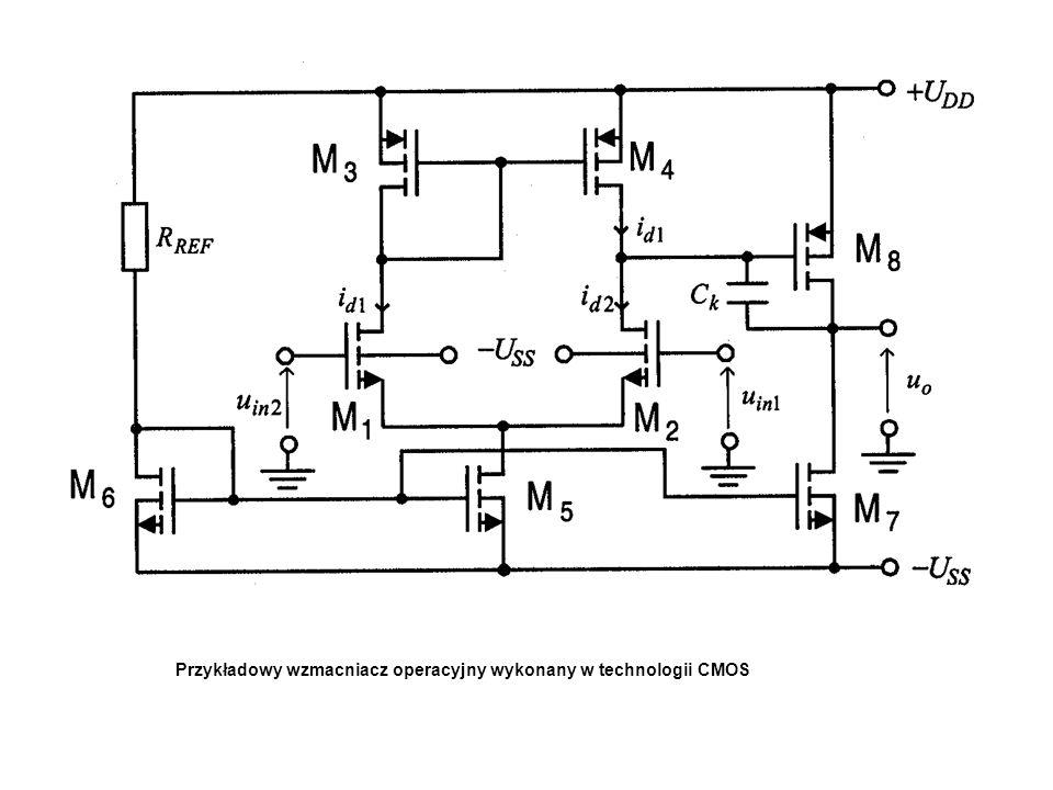Przykładowy wzmacniacz operacyjny wykonany w technologii CMOS