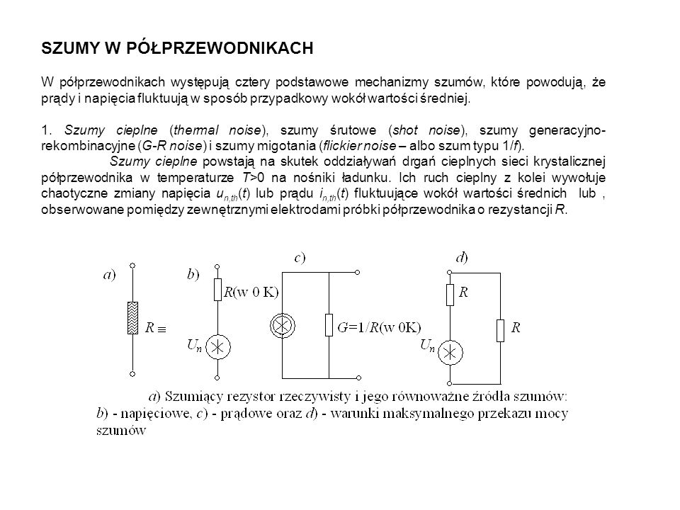 OEOBOC Impedancja wejściowa Z we średnia r be mała r be / F duża r be +(1+ F )() Impedancja wyjściowadużabardzo dużamała Wzmocnienie prądoweduże F <1 F = F /(1+ F ) duże F +1 Wzmocnienie napięciowe <1 Wzmocnienie mocybardzo dużedużeśrednie Częstotliwości granicznemałe f duże f F f małe f Małosygnałowe parametry użytkowe tranzystorów bipolarnych w podstawowych konfiguracjach układowych