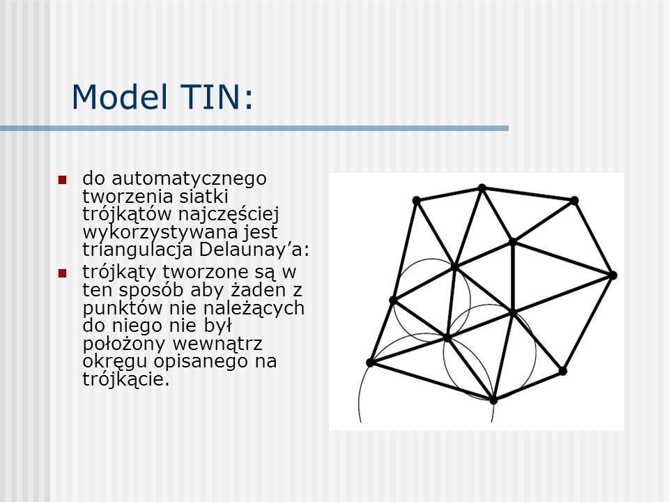 NMT w regularnej siatce: zawiera dane interpolowane (a nie oryginalne dane pomiarowe) daje większą łatwość modelowania powierzchni (interpolacji wysokości w dowolnym punkcie, generowania profili, generowania warstwic, generowania map spadków i ekspozycji, obliczenia objętości, określania widoczności między dwoma punktami)