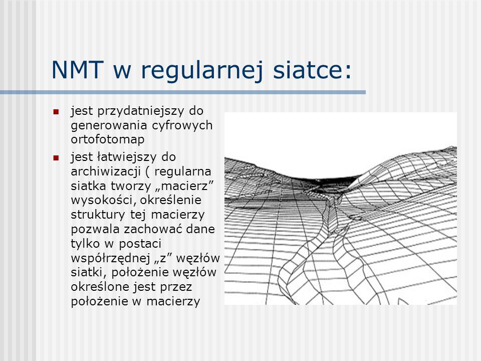 Pozyskanie danych do NMT: Metodą bezpośredniego pomiaru terenowego (tachimetria elektroniczna albo techniki GPS).
